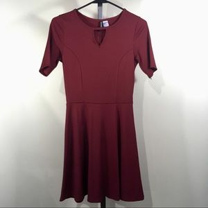 H&M Divided Women's Red A Line Skater Dress 4
